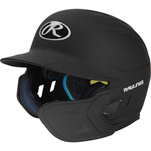 Rawlings MACHEXTR-B7-JR 2019 Mach Baseball Batting Helmet, Matte Black ()