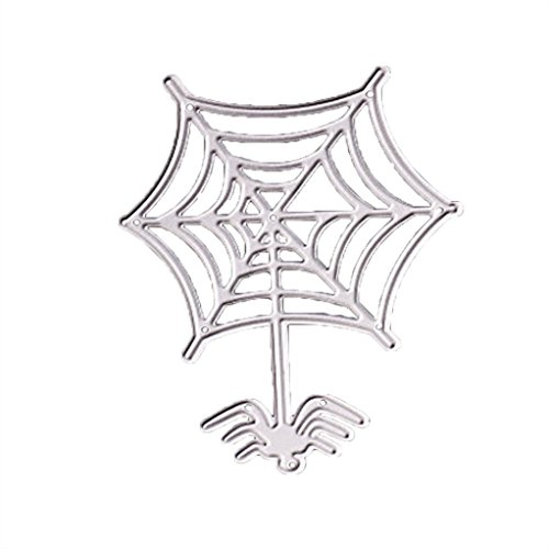 Cutting Dies,Pollyhb Happy Halloween 12 Sets Flower Metal Stencils DIY Scrapbooking Album Paper Card Craft (C)