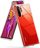 (US) Ringke [Fusion] Designed for Huawei P30 Pro Crystal Clear PC Back Case [Anti-Cling Dot Matrix Technology] Lightweight Transparent TPU Bumper Drop Protective Phone Cover - Clear