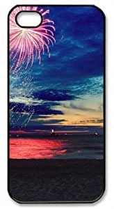 iphone covers Beach Sunset Glow Firework Theme Case for Iphone 6 4.7 PC Material Black
