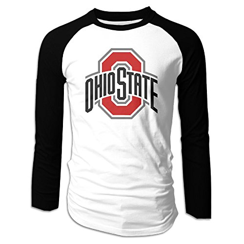 (Mens Ohio State Buckeyes Popular Graphic Printed Long Sleeve Raglan Tee)