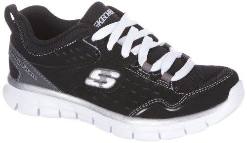 UPC 883646097746, Skechers Synergy Immunity (Little Kids) Little Kids Sneakers Shoes 95494LBKW Size 1 D (Standard Width) Black/White