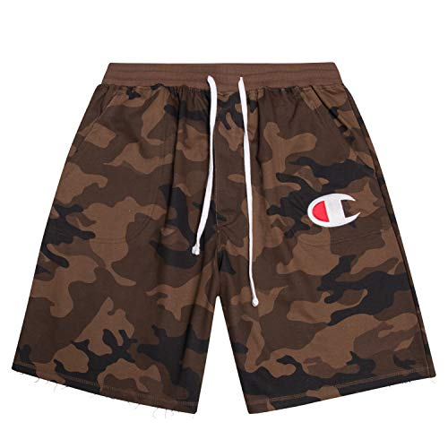 Champion Mens Big and Tall Cotton Jersey Active Shorts with Embroidred Logo Camo/Camo 1X ()