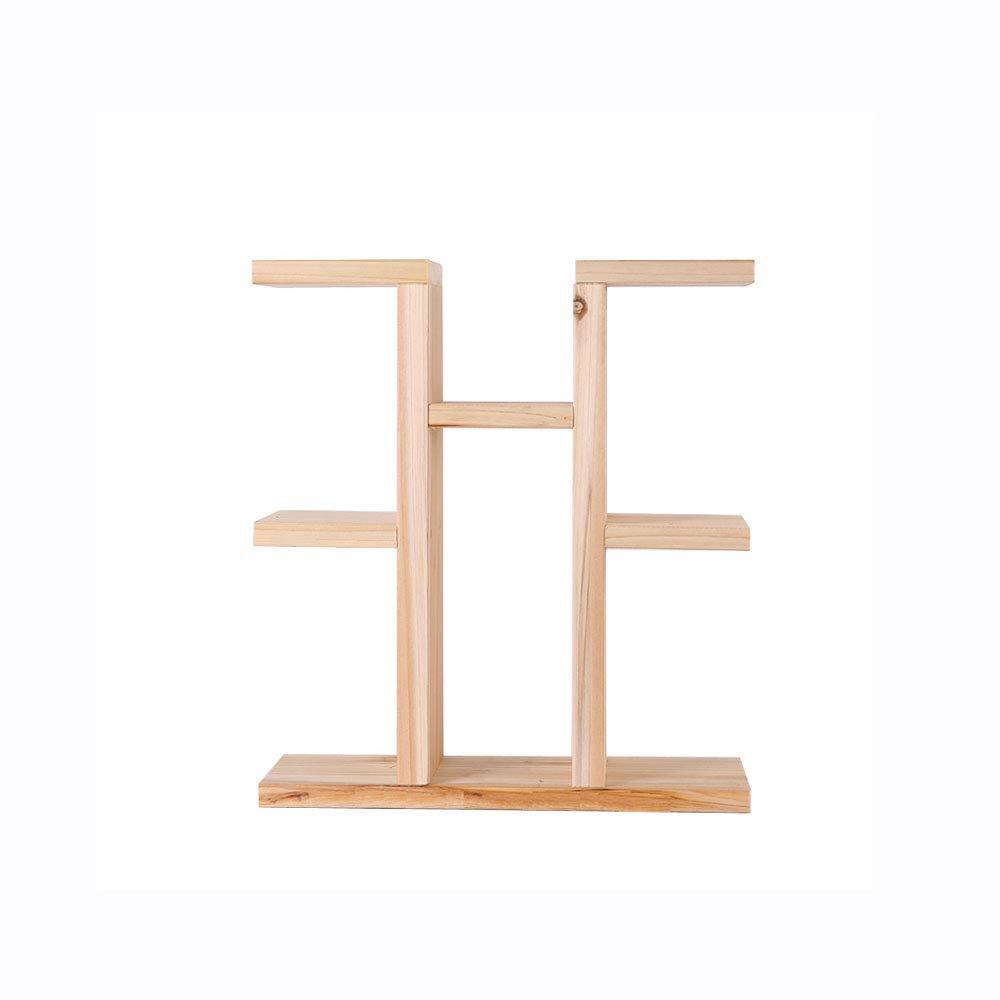 WYNZYHJ Stand per Piante, in Legno Massello Creativo Porta Fiori per Ufficio Davanzale per Finestre Mini Storage Rack per Scaffali per Piante in Vaso Supporto per Piante di Piccole Dimensioni