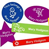 Super Sticky Name Labels for Children's Property - Microwave & Dishwasher Safe School Name Stickers (50 Labels)