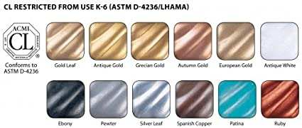 Amazon com rub n buff wax metallic finishes 12 color sampler set
