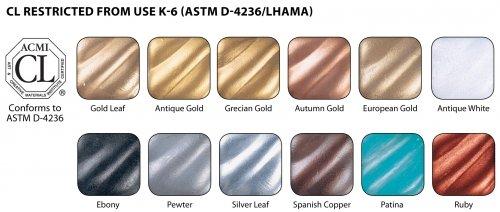 Rub N Buff Wax Metallic Finishes 12 Color Sampler Set