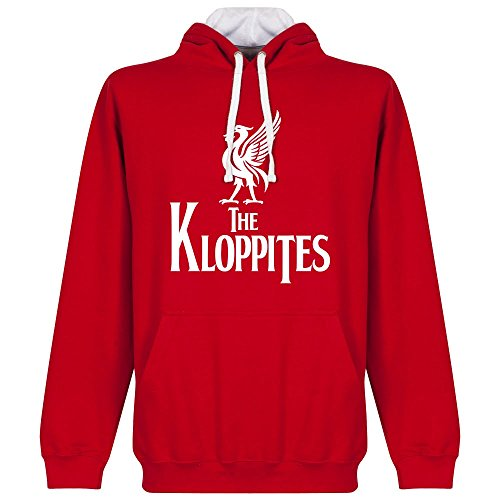 The Kloppites Felpa con cappuccio, colore: rosso