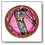 Mossy Oak Breakup/Pink 7 inch Heavyweight Paper Plates - 8 Pack