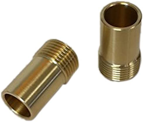 """Hansgrohe Pair 3//8/"""" Inch Flexi Tail Pipe Adapter Fitting Compression EuropeanTap"""