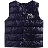 AMSKY Kids Letter Print Vest Coat Toddler Baby Boy Girl Sleeveless Hoodie Jacket Waistcoat Winter Clothes