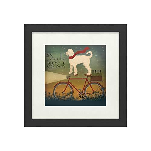 Trademark Fine Art Doodle on Bike Summer by Ryan Fowler, White Matte, Black Frame 16x16, Multi-Color (Best Value Hybrid Bike)