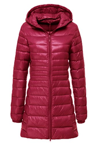 Jacket Down Wine Long Vogstyle Women's Lightweight Quilted Coat S Hooded Red Jacket Jacket Ultra XXL Down SSIvwR
