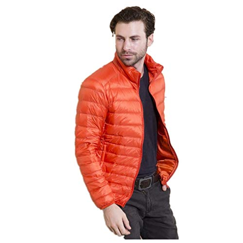 Long Jacket Fashion Cotton Men's Orange Padded Coat Casual Battercake Sleeve Thickening Comfortable Down Quilted Winter Outerwear Jacket TqRE1c5x