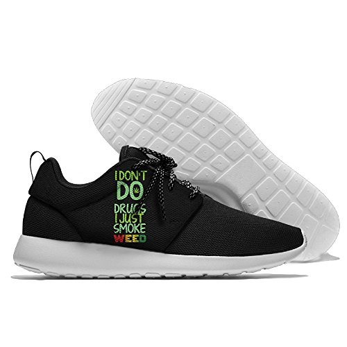 I Don't Do Drugs And I Just Smoke Weed Men's Mesh Running Shoes Sneakers Breathable Athletic Workout Fitness Sports Shoes Trainers 43 (Smoke Sport Sandals)