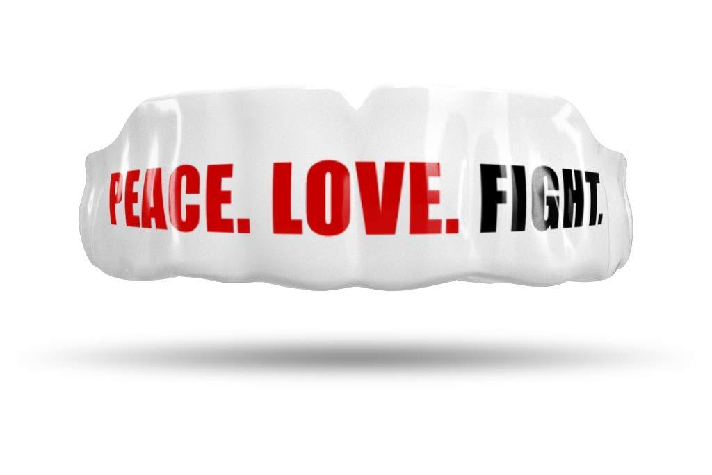 Impact Custom Professional MMA/Boxing/Muay Thai Mouthguard (Peace.Love.Fight.) by Impact Custom Mouthguard