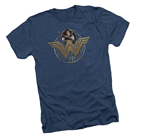 Wonder+Woman+Shirts Products : Emblem & Stance -- Wonder Woman Movie Adult Heather T-Shirt