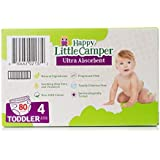 Happy Little Camper Ultra Absorbent Premium Natural Diapers, Size 4, 80 Count, 22-37 LB (10-17 KG)