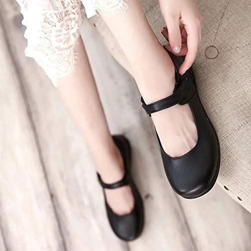 MINIVOG Girls Lolita Shoes Student Uniform Dress Universal Cosplay Waiter Work Shoes