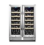Karcassin Wine Cooler Refrigerator - Compressor Wine Bottle Chiller - wine fridge for Red & White - Stores upto 54 Bottles - Silent with Low Vibrations - Freestanding or Built-in