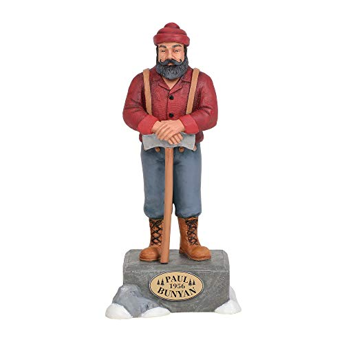 "Department 56 Village Collections Accessories Paul Bunyan Statue Figurine 6.89"" Multicolor"