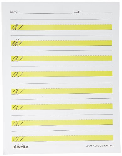 Abilitations Integrations Hi Write Practice Pads Script Pad - 100 Sheet Pad by Abilitations