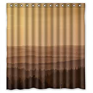 Attractive Misty Forest Personalized Fabric Shower Curtain 66(W)X72(H)