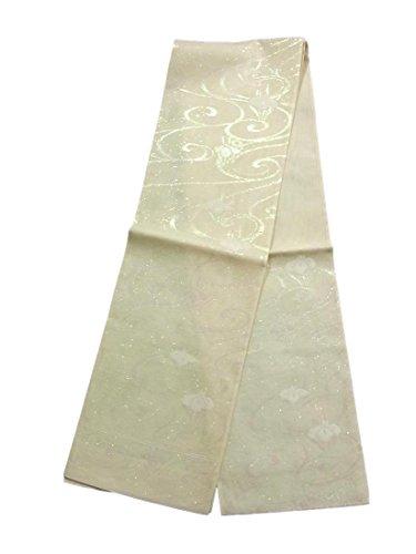 周波数ベテラン自己リサイクル 袋帯  夏物 紗 流水に花菖蒲 正絹