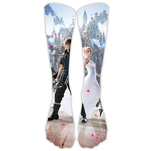 Price comparison product image Final_Fantasy_XV Gaming Long Stockings Socks Hose Knee High Adult Unisex
