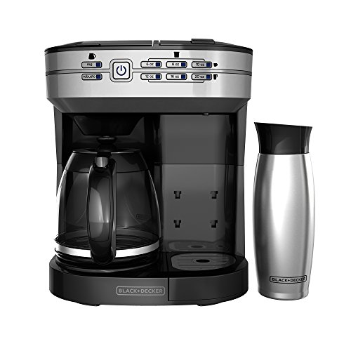 BLACK+DECKER CM6000BDM Cafe Select 2-in-1 Dual Brew & Mug, Silver