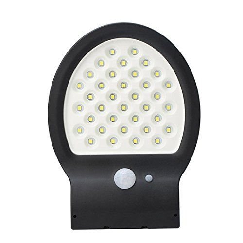 36LED Solar Power Garden Security Waterproof Wall Light,With Motion Sensor by Sonmer