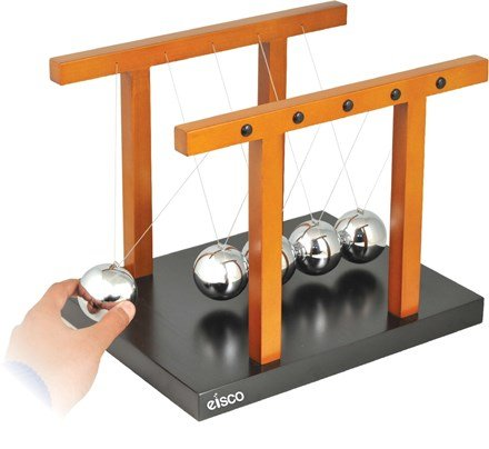 Giant Newton's Cradle - Completely Assembled, Size 12.25'' x 9.5'' x 9.7'' (310 x 240 x 245mm), Ball Diameter 50 mm - Eisco Labs by EISCO