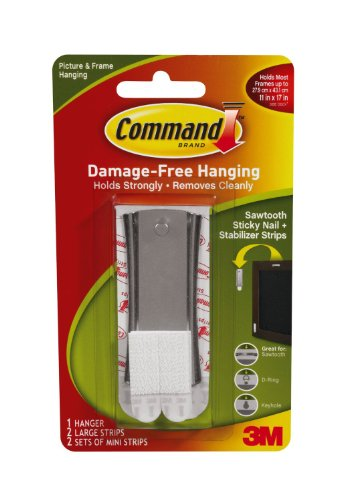 Command Sticky Nail Sawtooth Hanger, 5-Pound, -3 Pack ()