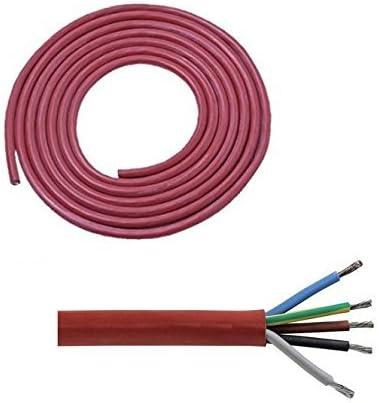 Silikonkabel 5x2,5 SIHF-J 5x2,5  Silikonleitung 100m Saunakabel Kabel 5x2,5