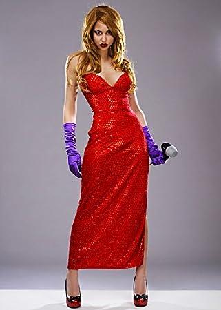 Magicbox Jessica Rabbit Style Femme Fatale Costume M Uk 10 12