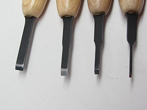 Flexcut 8pc Micro Chisel & Skew MT100 MT 200 Woodcarving Tools Canvas Roll