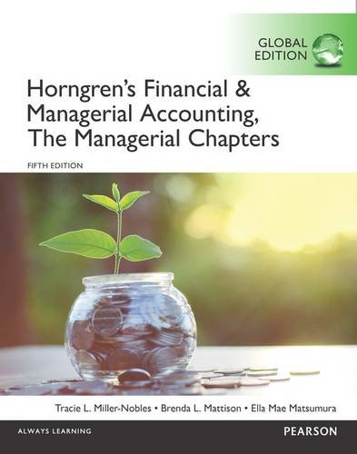 Horngren's Financial & Managerial Accounting, The Financial Chapters and The Managerial Chapters with MyAccountingLa