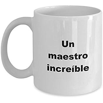 Maestro Regalo Taza para Hombre de Cumpleanos Navidad el dia del Padre mug in Spanish