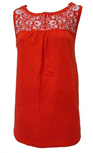 talbots-embroidered-empire-waist-tunic-tank-red-orange-size-medium