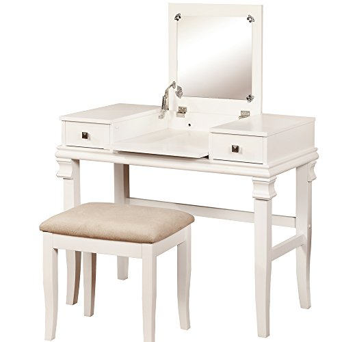 Linon Vanity Set, Angela White