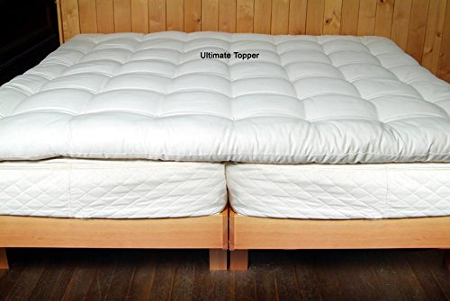 Holy Lamb Organics Quilted Ultimate Wool Mattress Topper - QUEEN