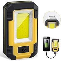 Ustopfire Portable LED Work Light with Magnetic Base Hanging Hook for Outdoor Camping Fishing Hiking Emergency Car Repairing Job Lighting