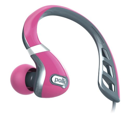 Polk Audio UltraFit 3000 In-Ear Canal Sports Headphones - Grey / Pink