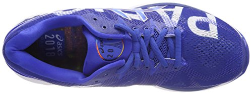 Asics Gel Nimbus Mens 20 Maratona Parigi Scarpe Blu Corsa