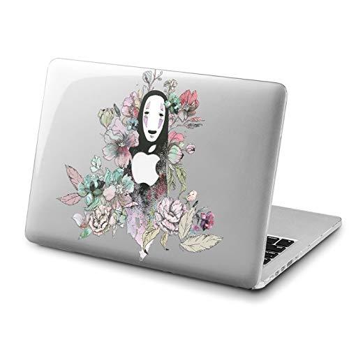 Lex Altern MacBook Cute No Face Pro 15 inches Case Floral Mac Air 13 2018 A1707 A1706 A1989 Retina Spirited Away Flowers 12 Cover Hard Studio Ghibli 11 Apple 2017 -