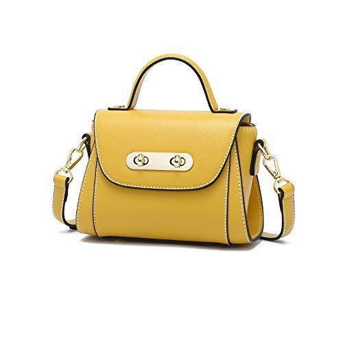grande Borsa donne moda One e giallo versatile di Messenger quadrata donna per capacità Casual da semplice spalla Shopping lavoro Piccola le rqxUr6w