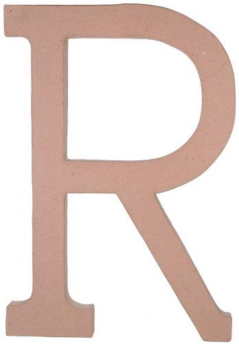 23.5 Inch Paper Mache Letter - Darice 2860-R Paper Mache Letter R 23.5In