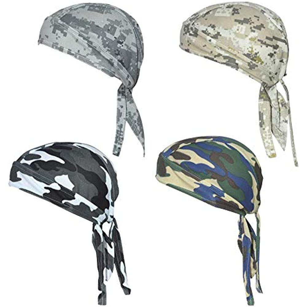 QING Sweat Wicking Beanie Cap Hat Chemo Skull Wrap Men And Women Camouflage Of