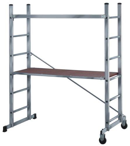 Brennenstuhl 1461600 Aluminium Gerüst mit Sicherheitsgeländer