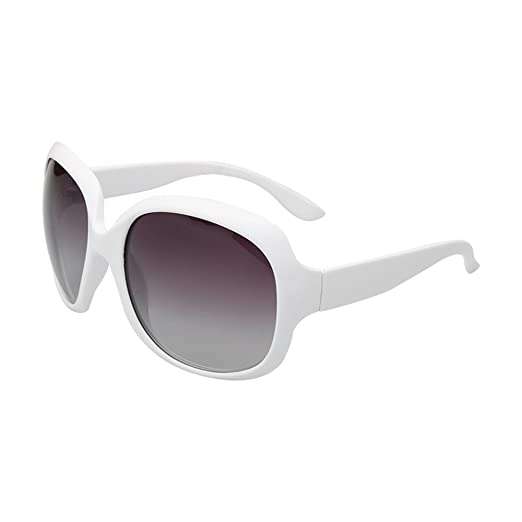 157dabe07de Image Unavailable. Image not available for. Color  BVAGSS Women Shades  Classic Oversized Polarized Sunglasses UV Protection Eyewear WS030 (White  Frame ...
